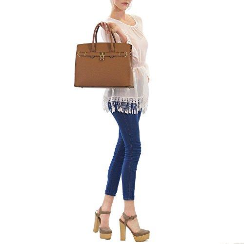 Light Blue Women's Top Bag Purse Tote Padlock Leather Faux Dasein Handbags Laptop Designer 2731 Handle Shoulder Briefcase Satchel aSxRqAw