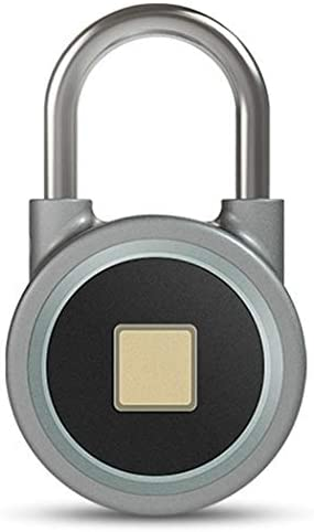 指紋アイアン南京錠スマートBluetooth APP電子自動ポータブル防水南京錠キャビネットドアキャビネットユニバーサルロック (Color : Blue, Size : 6*2.3*2.3cm)