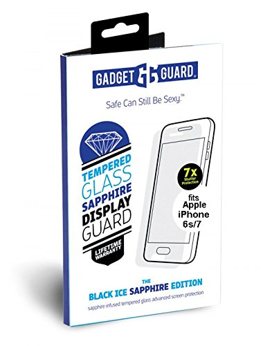 Gadget Guard Black Ice Sapphire Edition Extra Strength Tempered Glass Screen Protector For IPhone 6/6S/7/8 - Clear by Gadget Guard