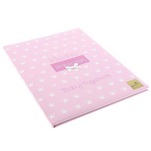 Goldbuch Babytagebuch Kl. Prinzessin rosa, 21x28cm, 44 illustrierte Seiten mit Pergamin, Kunstdruck mit Relieflack und Accessoires, 11087