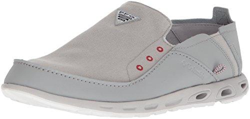 Columbia Boat Shoes - Columbia PFG Men's Bahama Vent PFG Boat Shoe, Steam, Rocket, 10.5 Regular US