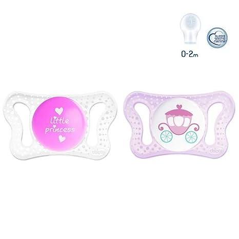 Chupete Chicco Physio Micrò Girl 2 unidades silicona 0 - 2 ...