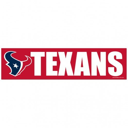 WinCraft NFL Houston Texans WCR67255013 Bumper Strip, 3
