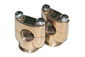 """RS Vintage Parts RSV-B00ZLQTRC0-01633 Motorcycle Parts Custom Made Brass Handlebar Risers Units For Many Motorcycle 1"""""""