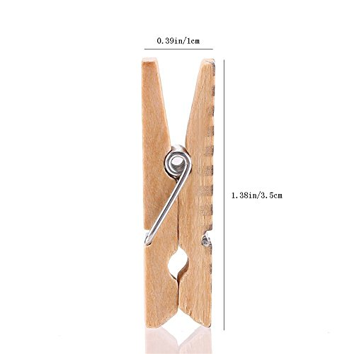 50 Pcs Painted Wooden Photo Clips,Clothespin Home Bedroom Wall Decoration Data Files Activities Promotional Folders by ANZOME (Image #6)