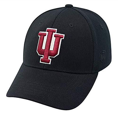 Top of the World Men's Indiana Hoosiers Black Premium Collection M-Fit Hat - ML