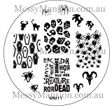 MESSY MANSION MM11 Nail Art Stamping Plate - Halloween Themed
