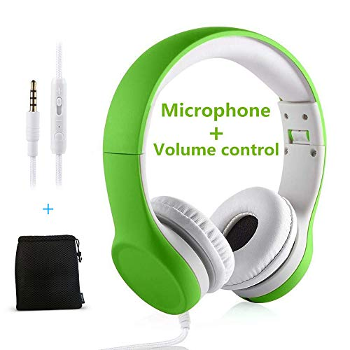 Kids Headphones with Volume Control, Yusonic Volume Limited Over The Ear Foldable Headphones with Share Connector for…