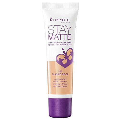 Rimmel Stay Matte Foundation Classic Beige 1 Fluid Ounce Bottle Soft Matte Powder Finish Foundation for a Naturally Flawless Look