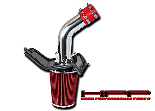 High Performance Parts Cold Air Intake Kit & Red Filter Combo Compatible for Subaru 2008-2014 WRX/STI H4 2.5L Turbo