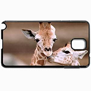 Customized Cellphone Case Back Cover For Samsung Galaxy Note 3, Protective Hardshell Case Personalized Giraffe Black