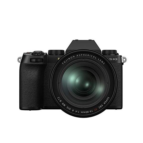 "RetinaPix Fujifilm X-S10 Mirrorless Camera Body with XF16-80mm Lens (APS-C X-Trans CMOS 4 Sensor, EVF, IBIS, 3"" Vari-Angle LCD Touchscreen, Face/Eye AF, 4K/30P & FHD/240P Video Vlogging, Film Simulation)-Black"