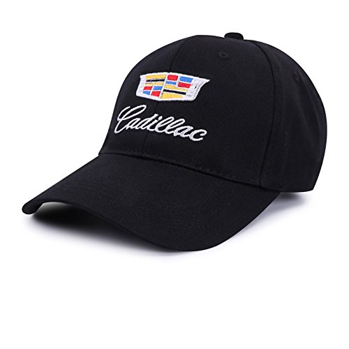 Auto sport Car Logo Black Baseball Cap F1 Racing Hat (Cadillac) ()