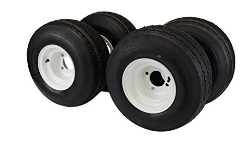 18x8.50-8 with 8x7 White Assembly for Golf Cart and Lawn Mower (Set of 4) (Best Golf Cart Tires)