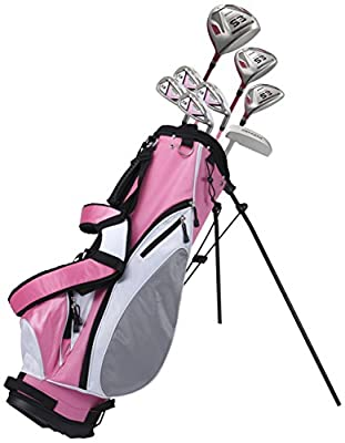 Precise ES Women's Golf Club Set, Left Hand, Pink