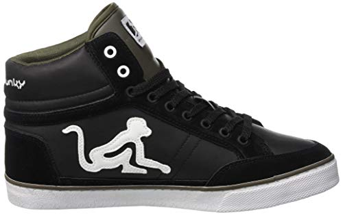 Alto a DrunknMunky Classic Green Boston Sneaker Nero Black Military 001 Uomo Collo 4RHwXqOwt