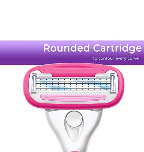Personna Women's 5 Blade Razor System – Women's Shaving Razors – Razor Handle with 12 Replacement Cartridges