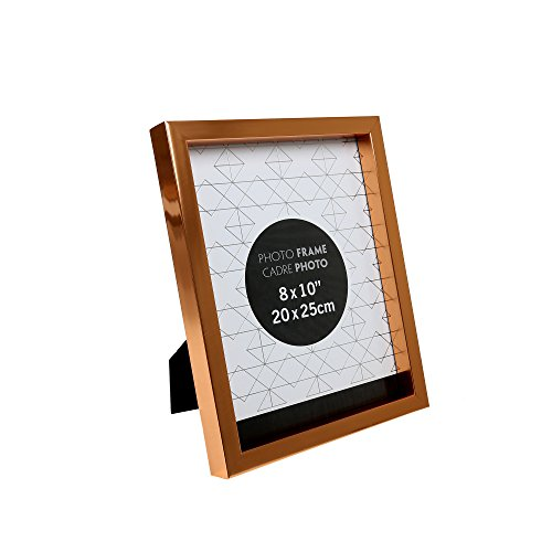 Copper Photo Frame (Truu Design, Metallic Picture Frame, 8 x 10 inches, Rose Gold)