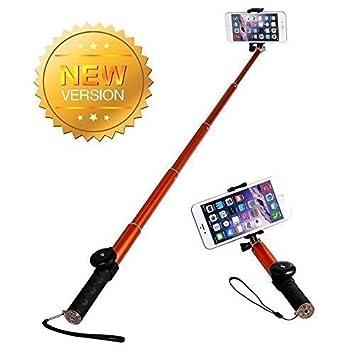 Selfie Stick Bluetooth,Levin Palo Selfie Monopod Selfie Auto-bloqueo Ajustable Conexión Inalámbrica Autorretrato Extensible Kit Handheld Palillo de ...