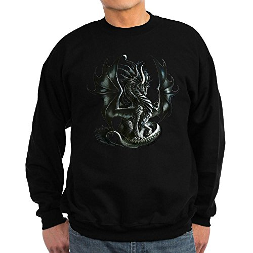 CafePress - RThompson's Obsidian Dragon Sweatshirt (dark) - Classic Crew Neck (Amy Insulated Jacket)