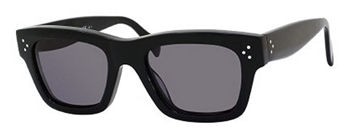 19bb4a1471b3b Celine 41732 S Sunglasses-0807 Black (3H Smoke Polarized Lens)-51mm ...