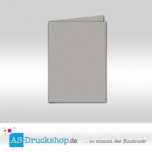 Faltkarte Doppelkarte - Graphit 100 Stück Stück Stück DIN A5 B0794X5KL6   Charmantes Design  5bf119