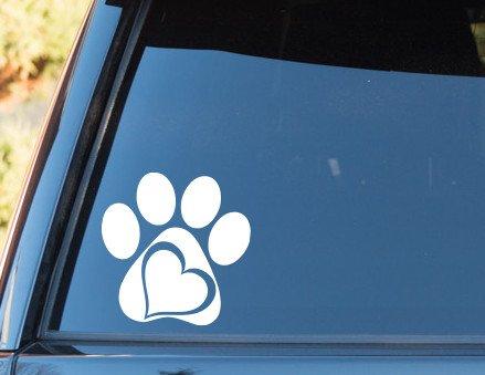 SELECT SIZE Paw Heart Car Vinyl Sticker