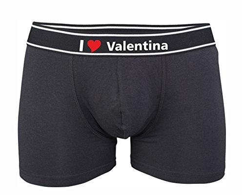 Personnalisable Imprimé Homme Noir Kariban Avec Boxer Love Ou I Valentina xwE8qfFE