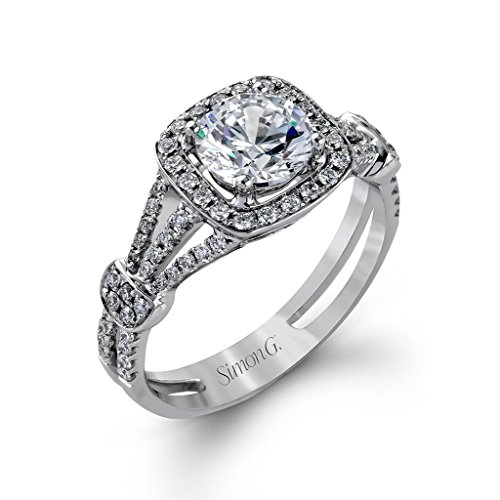 Pave Prong (3 Ct Round Brilliant Cut Nscd Simulated Diamond Solitaire Split Shank Pave 925 Sterling Silver Wedding Engagement Ring, All US Size 4 to 13 Available)