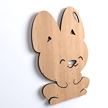 10x Hase Tiere Blank Form Holz Ostern Basteln Dekoration Malen