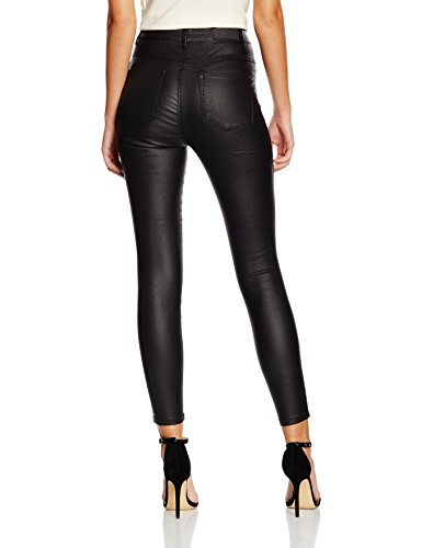 Only Onlroyal Hw Sk Ank Rock Coated Pim Noos, Pantalones para Mujer Negro (Black)