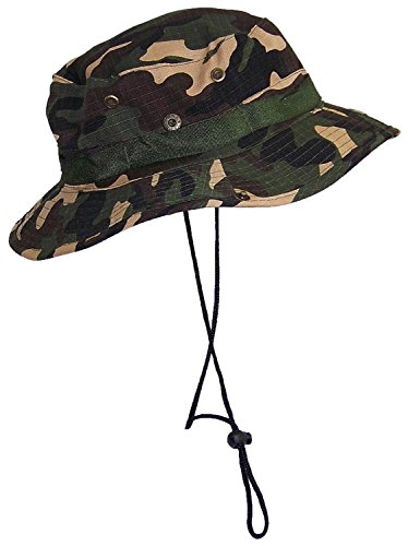 Cord Cap Hat - Eforstore Hot Sale Camouflage Hat Ripstop Floppy/Bucket Summer Hat with Snap Up Sides (Woodland Camo)
