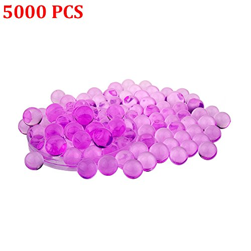 Candora 5000pcs Water Beads Crystals Mud Crystal Water Gel Beads Soil Beads Crystal Soil Plant Flower Jelly Crystal Soil Mud Water Pearls Gel Beads Balls for Kids Vases (1# Rose) - Silver Resin Ball