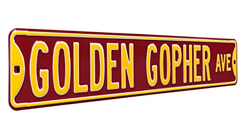 NCAA Golden Gopher Ave Minnesota Street Signstreet Sign, Team Color, 36