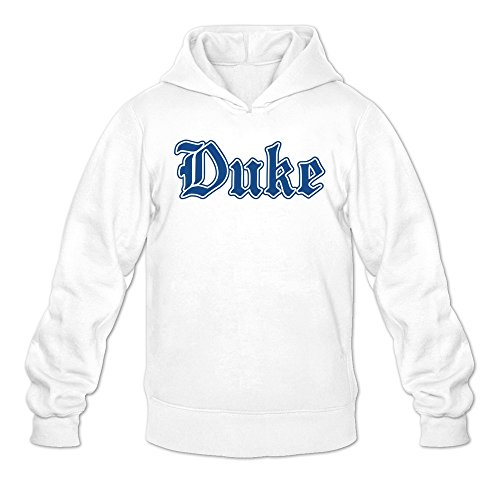 - Man North Carolina Duke Blue Devils Letters Logo Hoodie White
