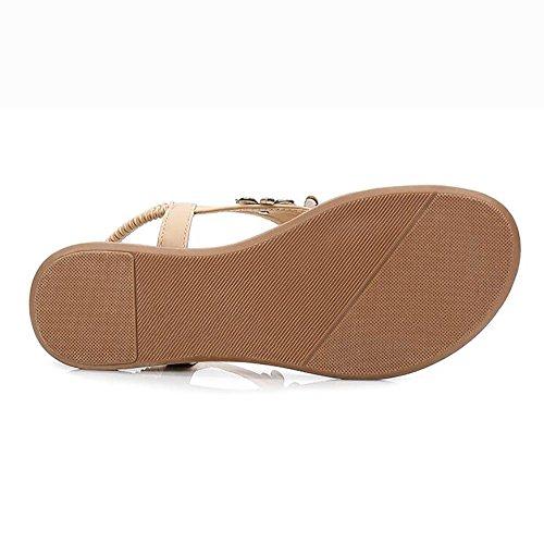 Black Pantofola Leggero Signore Apricot Le Infradito Spiaggia CN41 Estate UK7 Sandali SHANGXIAN EU40 US9 nx8Y00