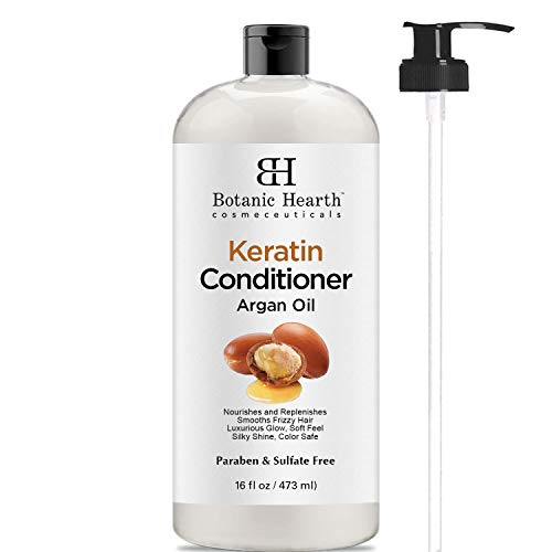Keratin Conditioner with Argan Oil by Botanic Hearth - Natural Sulfate Free Keratin Hair Treatment for Normal