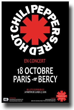 Red Hot Chili Peppers - 11 x 17 RCHP Promo for a Concert on the