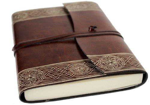 Celtic Handgemachtes Italienisches Notizbuch aus recyceltem Leder, Größe A5 (15cm x 21cm)