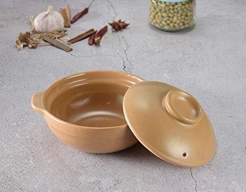 ZJZ Casserole en céramique Pot à ragoût en Terre Cuite Casserole en céramique Casserole en céramique Cuisson à Haute température, Facile à Nettoyer 0.8L