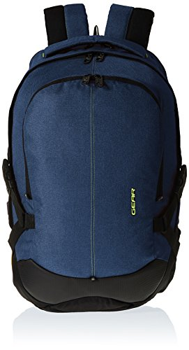 Gear Classic 36 ltrs Navy Blue and Green Casual Backpack (BKPOTLNR40503)