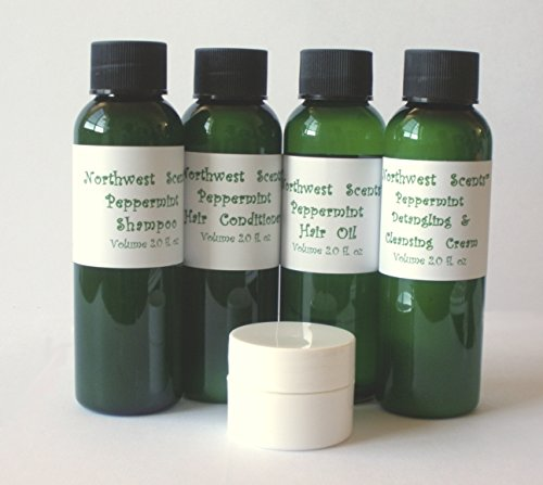 Search : Northwest Scents Peppermint Five Piece Sample Kit for Black, African American, Afro Textured, 4C Hair