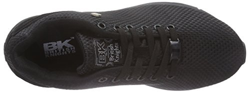 British Knights Jump - zapatilla deportiva de material sintético mujer negro - Schwarz (Black-Black 10)
