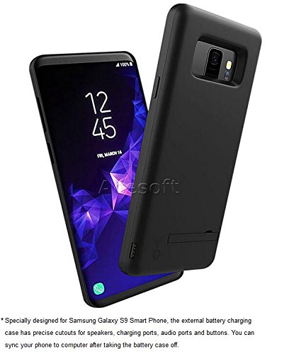 [Samsung Galaxy S9 Battery Case] 5000mAh Rechargeable Extended Battery Backup Charger Case External Portable Power Bank Protective Cover for Samsung Galaxy S9 SM-G960U Android phone