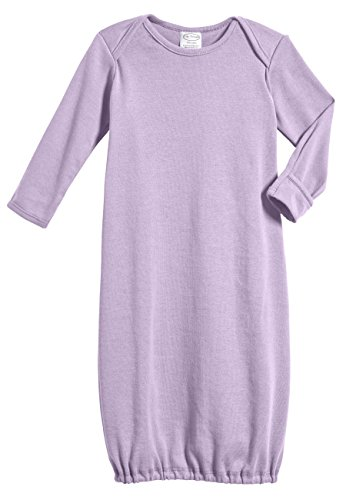 100% Cotton Baby Sleeping Bag Gown - Lavender - 0/3 m (Stores That Sell Pajamas)