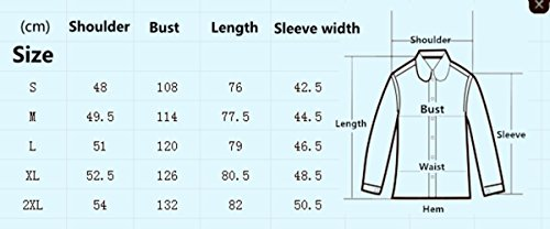 Puwany Mens Cotton Shirts Button Down Slim Fit Lapel Collar T-Shirts with Front Pocket (L, Grey) by Puwany (Image #1)