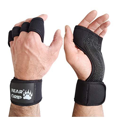 BEAR GRIP – Open Workout Handschoenen voor Crossfit, Bodybuilding, callisthenics, Powerlifting
