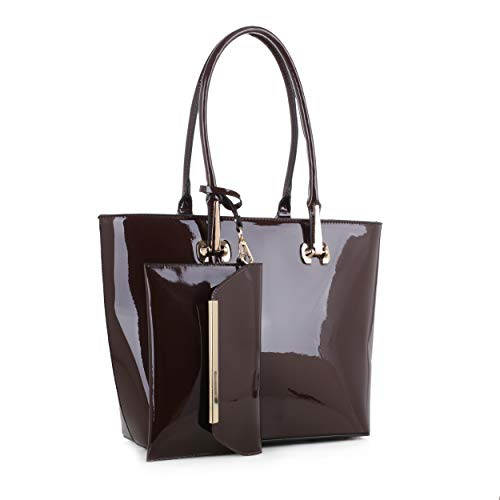 Tenesha Patent Tote With Wristlet By Mia K Farrow