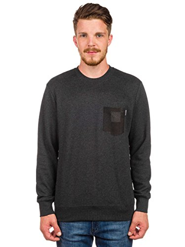 Eaton Sweat Pocket Taille Noir Heather Homme Crew Carhartt one Size REdqE