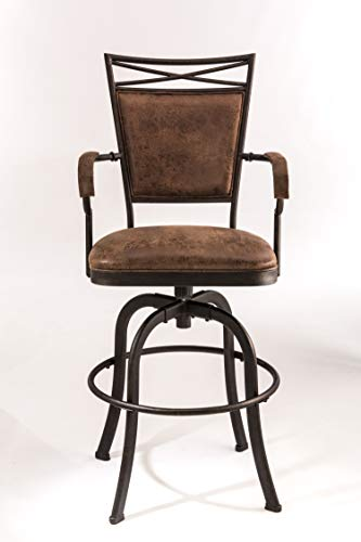 Hillsdale 5759-826 Bridgetown Swivel Tilt Counter Stool, Aged Bronze Finish (Round Hillsdale Stool Bar)